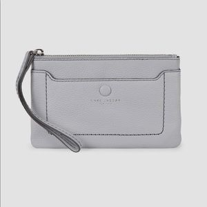 Marc Jacobs Leather Wristlet - Light Grey *NWT